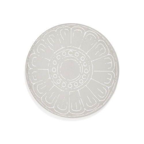Bonprix Okrągły dywanik łazienkowy z pianką memory kremowy