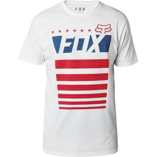 koszulka FOX - Red, White & True SS Tech Tee Optic White (190) rozmiar: XL, kolor czerwony