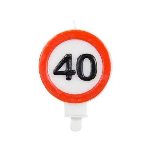 Świeczka na 40-tke znak zakazu - 1 szt.