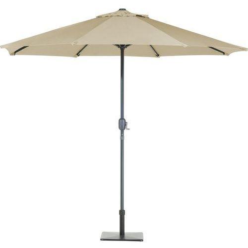 Parasol ogrodowy LED Ø266 szaro-beżowy RAPALLO