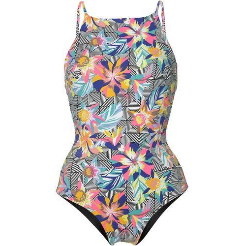 O'Neill HIGH NECK SWIMSUIT Kostium kąpielowy black/graphic small pink, poliamid
