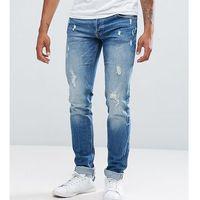 tall intelligence jeans in slim fit with distress detail - blue marki Jack & jones