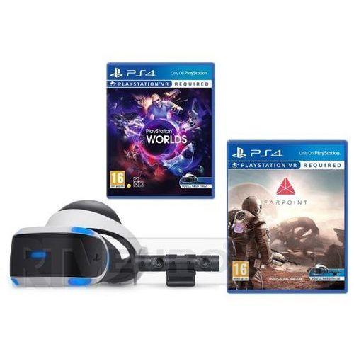 Sony playstation vr + kamera + vr worlds + farpoint - produkt w magazynie - szybka wysyłka! (0000001142957)