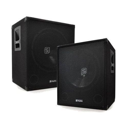 Dwa głośniki basowe Skytec 2 x Bassbox 1200W 38cm Subwoofer