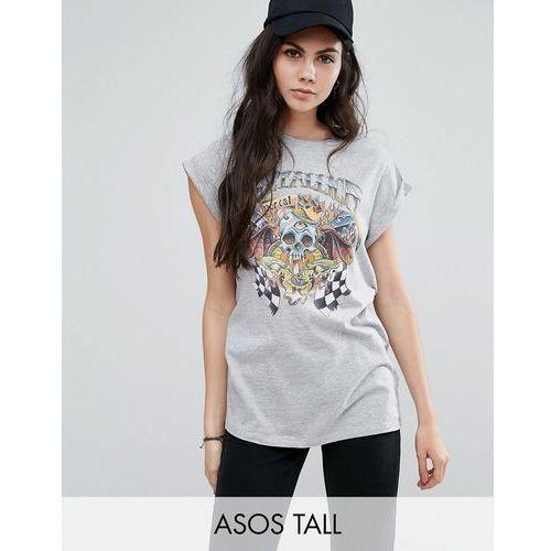 ASOS TALL T-Shirt With Metallica Print In Washed Oversized Fit - Grey, kup u jednego z partnerów