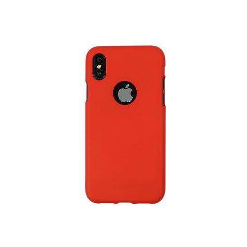 Apple iPhone XS - Mercury Goospery Soft Feeling - czerwony, ETAP782GMSFRED000