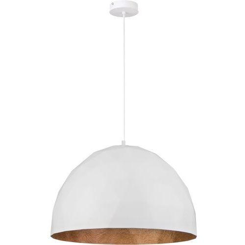 Lampa wisząca 1x60W E27 DIAMENT M biały/miedź 31374 SIGMA, kolor Biały