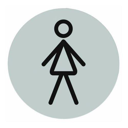 Tabliczka samoprzylepna WC Pani inox