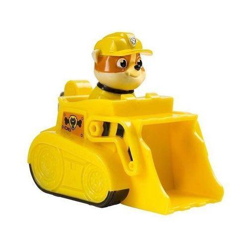 psi patrol pojazd, buldozer i rubble marki Spin master