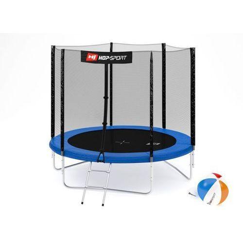 Trampolina 8ft (244cm) z siatką zewnętrzną -3 nogi - 8 ft (244 cm) \ niebieski marki Hop-sport