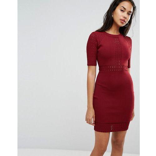 Morgan Detailed Bodycon Mini Dress - Red, w 2 rozmiarach