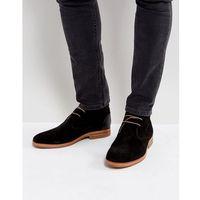 H By Hudson Matteo Suede Desert Boots In Black - Black
