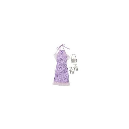Barbie sukienka z dodatkami Mattel (fioletowa)