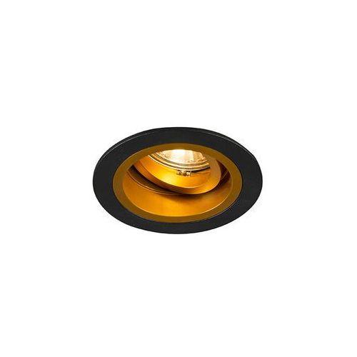 Qazqa Oprawa do wbudowania chuck okrągła czarna ze złotym