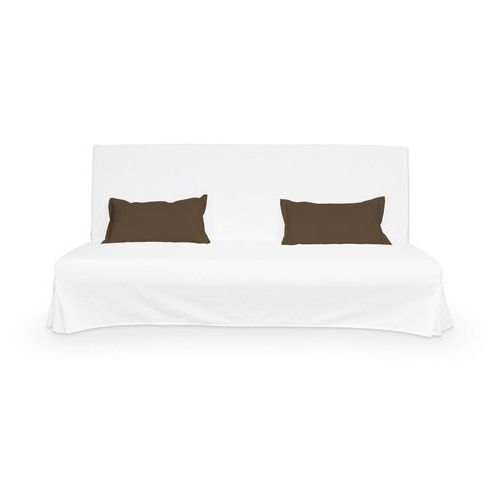 2 poszewki niepikowane na poduszki beddinge, mocca (brąz), poduszki beddinge, cotton panama marki Dekoria