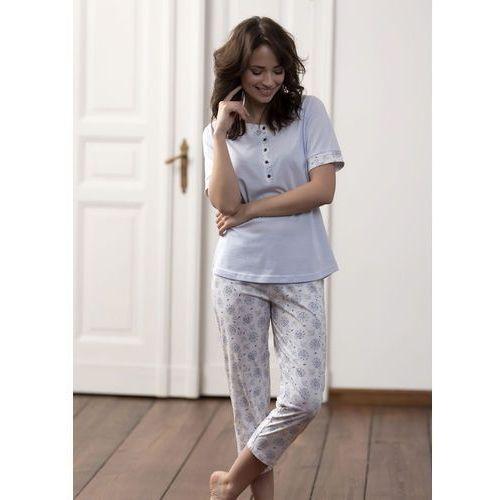 Piżama Cana 177 kr/r S-XL M, biało-błękitny. Cana, L, M, S, XL