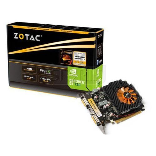 Karta graficzna Zotac GeForce GT 730, 2GB DDR3 (128 Bit), 2xDVI, mini HDMI - ZT-71103-10L
