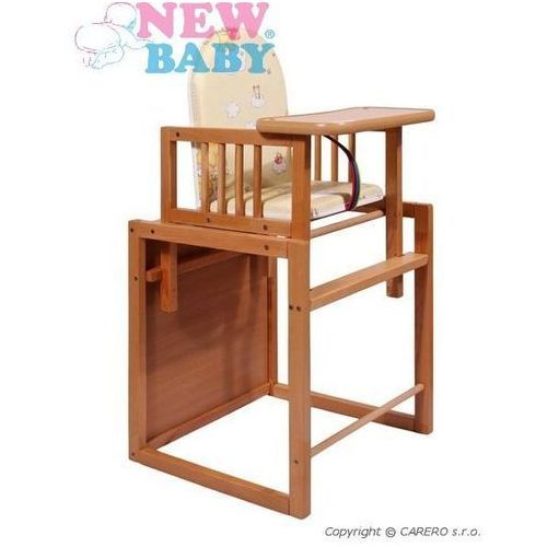 Bukowe krzesełko do karmienia New Baby Victory - naturalne