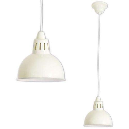 Lampa wisząca pastel cap 6070311 rustykalna oprawa metalowy zwis retro vintage ecru marki Nave