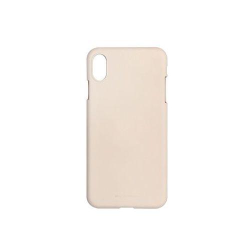 Apple iPhone XS Max - Mercury Goospery Soft Feeling - piaskowy róż, kolor różowy
