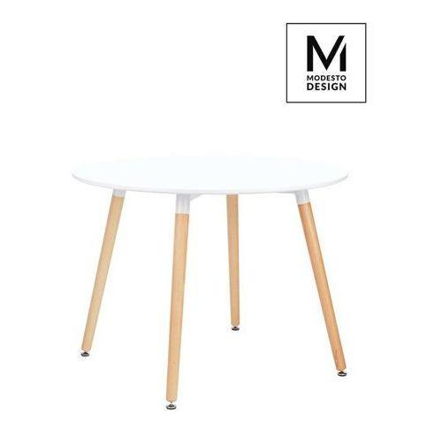 Sofa.pl Modesto stół living fi 100 biały - blat mdf, bukowe nogi