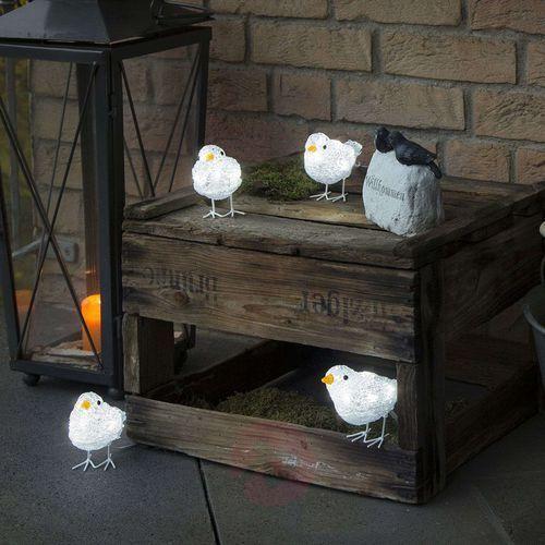 Urocza dekoracja zewnętrzna LED Ptasi kwintet (7318301442034)