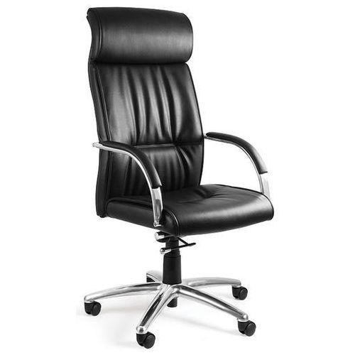 Unique Fotel biurowy brando czarny skóra naturalna