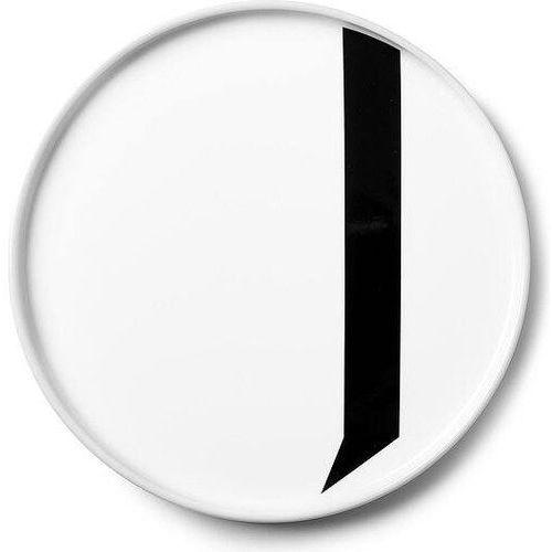 Talerz porcelanowy AJ litera J
