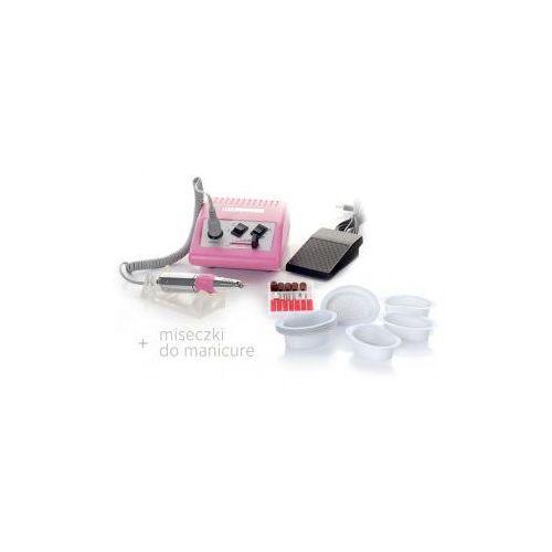 Zestaw f-22 frezarka jd500 sprint różowa + miseczki do manicure marki Vanity_a
