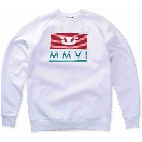 bluza SUPRA - Crown Jewel Crew Flc White-Red-Tea (127) rozmiar: XL, kolor biały