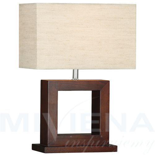 Calven lampa stołowa kremowy/drewno (5013874352361)