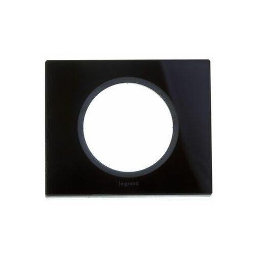 Legrand Ramka pojedyncza celiane 069301 szkło czarny grafit