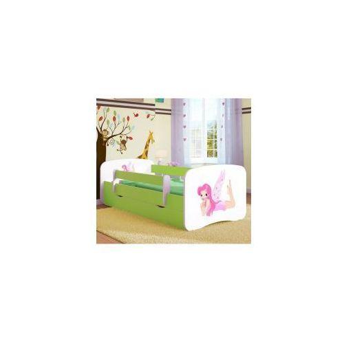 Łóżko dziecięce z materacem wróżka ze skrzydełkami, biało-zielone marki Kocot-meble