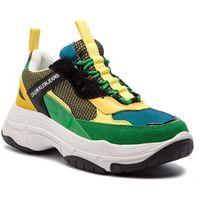 Sneakersy CALVIN KLEIN JEANS - Marvin S0592 Black/Green/Lemon, w 3 rozmiarach