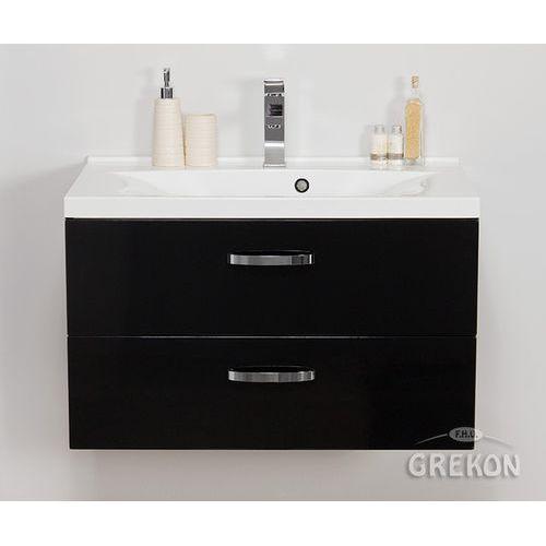 Gante Czarna szafka łazienkowa z umywalką 80/48/2 jona