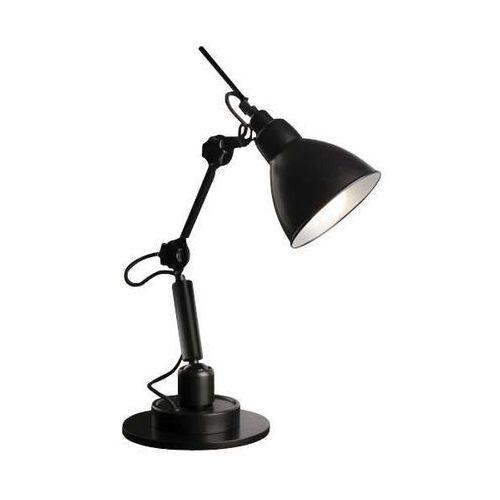 Shilo Stojąca lampka biurkowa daisen 2278/e27/cz metalowa lampa stołowa czarna (1000000340334)
