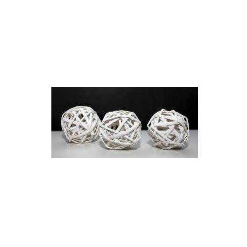 Pozostali Wiklinowa kula dekoracyjna biała 7,5 cm