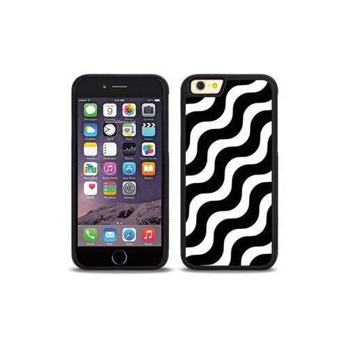 Apple iPhone 6 - etui na telefon Aluminum Fantastic - biało-czarna fala, ETAP138HBFNFC026000