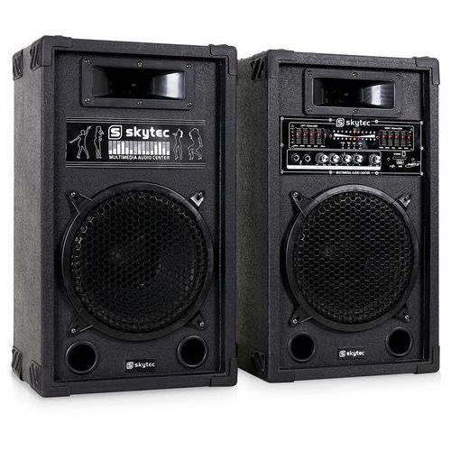 Skytec SPA1000 zestaw aktywnych kolumn PA 25 cm 1000W USB-SD-MP3