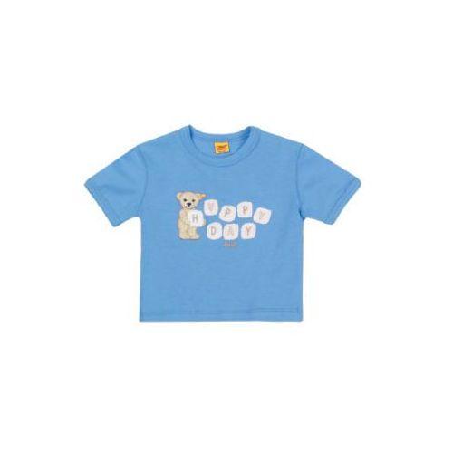 Steiff boys bluzka z krótkim rekawkiem milky blue (4056178403439)