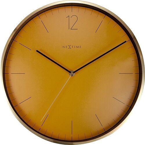 Nextime Zegar ścienny essential gold pomarańczowy