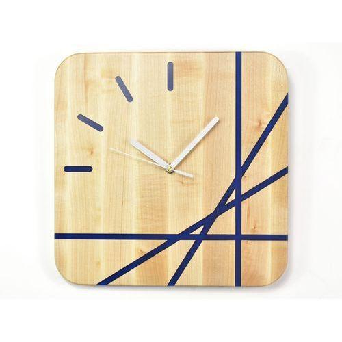 Woodwaycrafts Epoxy clock - lines - zegar ścienny z żywicą