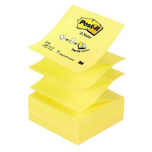 Bloczek samop. POST-IT® Z-Notes (R-330), 76x76mm, 100 kart., żółty