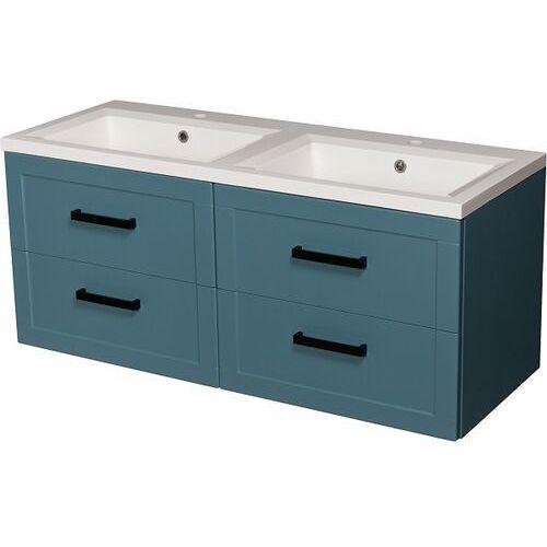 Niebieska szafka z umywalką 120/46/4 seria Meiva N Gante ✖️AUTORYZOWANY DYSTRYBUTOR✖️, kolor niebieski