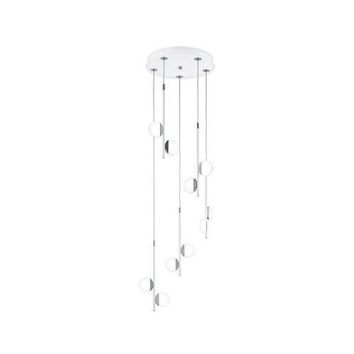 Lampa wisząca olindra 96932 zwis 10x2,2w led 2500lm 3000k biała/chrom marki Eglo
