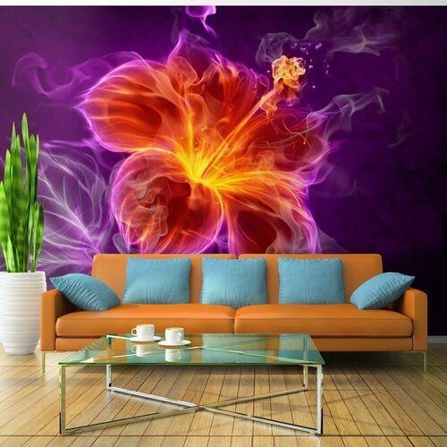 Artgeist Fototapeta - ognisty kwiat w purpurze