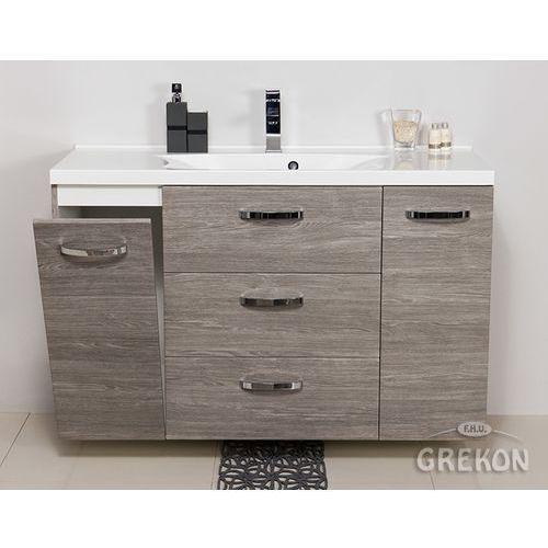 Szafka wisząca kolor szary z umywalką 120/48/k seria jona sp marki Gante