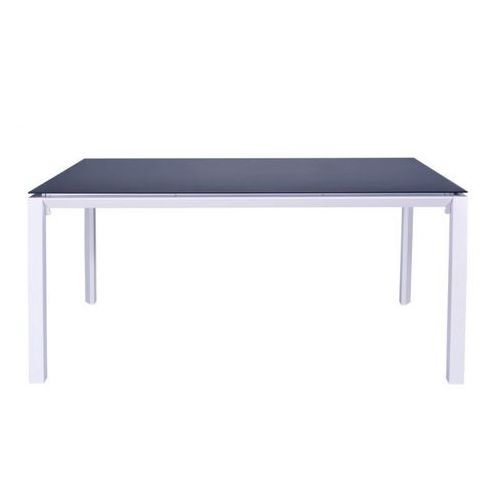 Vente-unique Stół ogrodowy mahina z aluminium - dla 6 osób - dł. 160 cm - kolor biały
