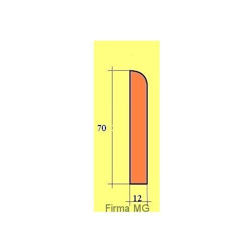 Mg Listwa przypodłogowa - cokół 7 jesion