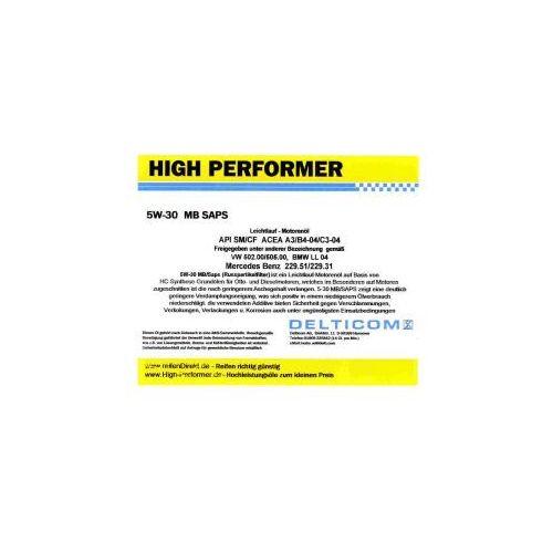 High Performer 5W-30 SAPS C3 BMW+MB 1 Litr Puszka